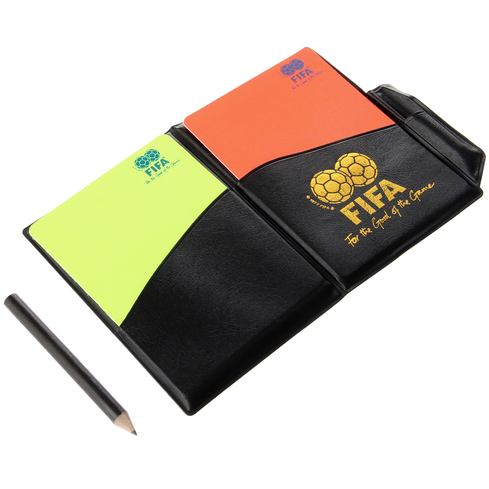 1PC Soccer Referee Supplies Red Card/ Yellow Card Referee Game Appliances With Holster+Pen Football Equipment Pencil Wallet 2017(China (Mainland))