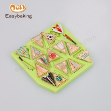 Boy Sport Bunting Silicone Mould Graduation Cake Decorating Tools Kitchen Accessories Cooking Baking Tools