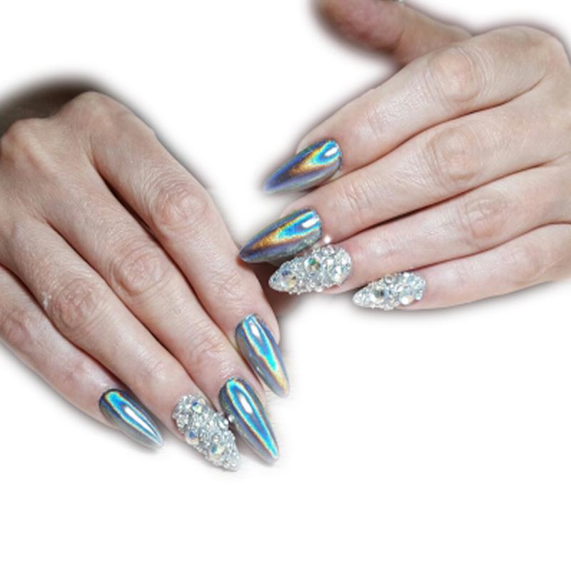 New Holographic Powder Rainbow Shinning Mirror Nail Glitter Powder Nail Art Dust Laser Decoration Pigment Nail Glitter Powder(China (Mainland))