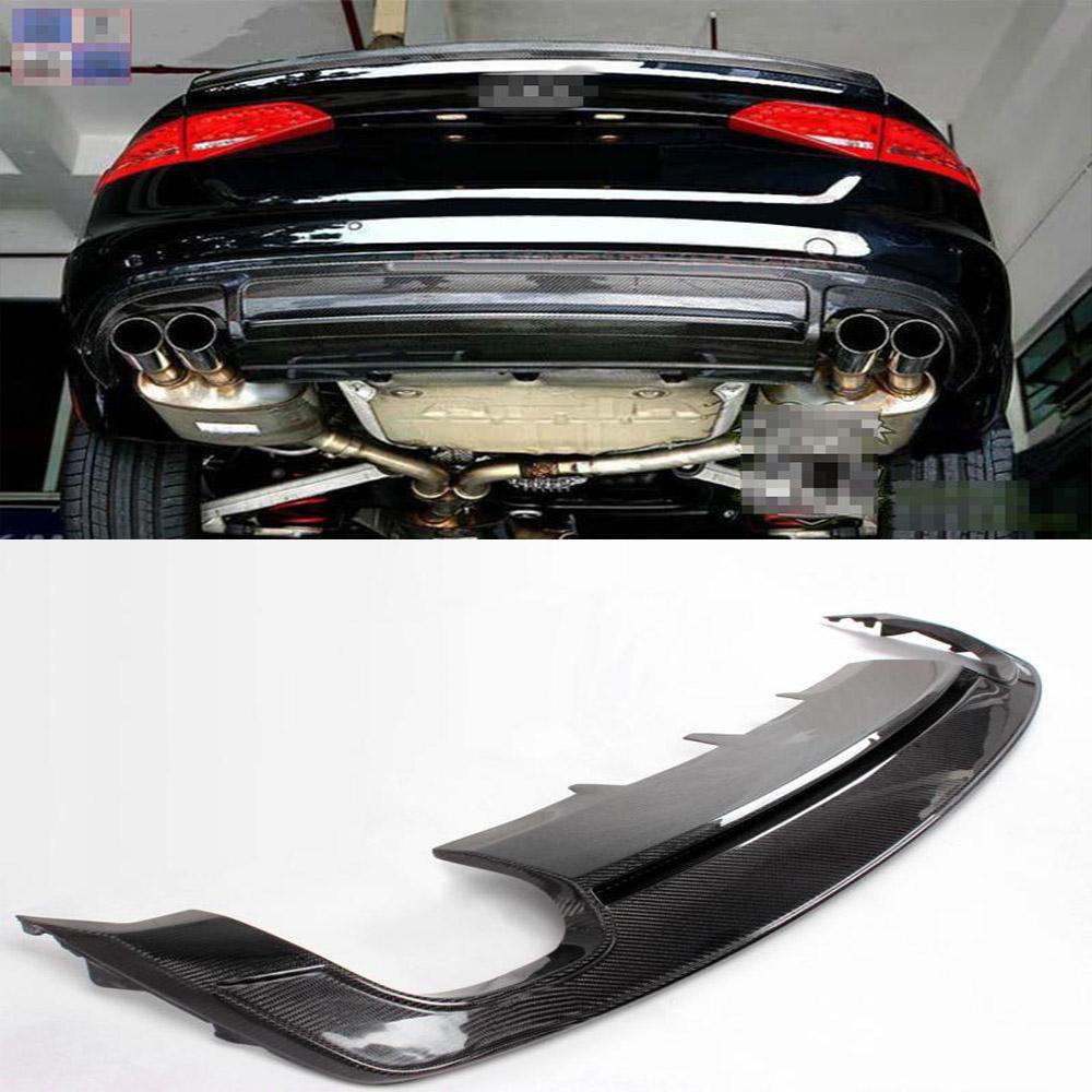 Aliexpress com compre 2013 a4 b9 fibra de carbono auto car p ra choques traseiro difusor lip