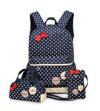 School Bags for Teenagers Girls Schoolbag Large Capacity Ladies Dot Printing School Backpack set Rucksack Bagpack Cute Book Bags(China (Mainland))