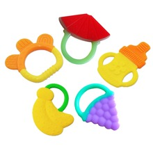 1 Pcs Infant Baby Teether Lovely Cartoon Shape Teethers Silicone BPA Free for 4M+ Baby Free Shipping YY0137(China (Mainland))