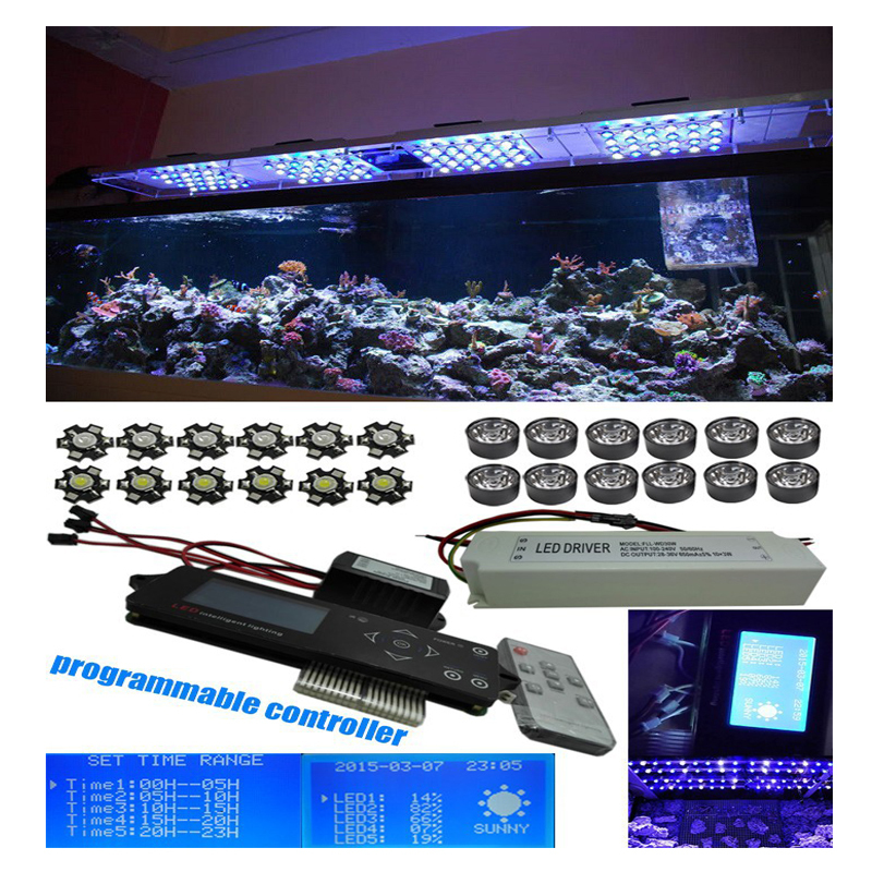 450W aquarium light freshwater tank Programmable 5 channels Wireless dimmable led intelligent light sunrise sunset lunar cycle(China (Mainland))