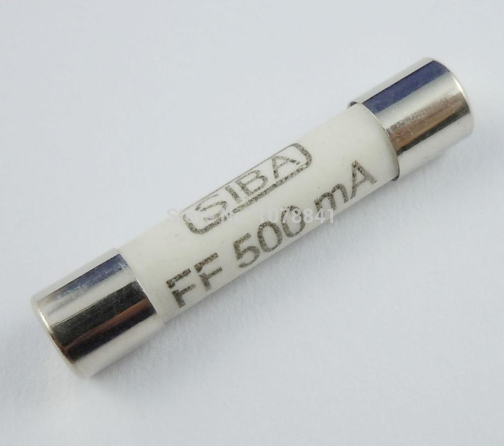 10 Pcs Per Lot 6mm x 32mm FF500MA 0.5A 1000V SIBA Ceramic Fuse<br><br>Aliexpress
