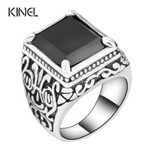 Buy Hot Black Rings Mens Filled Silver Color AAA Resin Wedding Ring Men Big Size 11 LY Vintage Jewelry Wholesale for $1.29 in AliExpress store