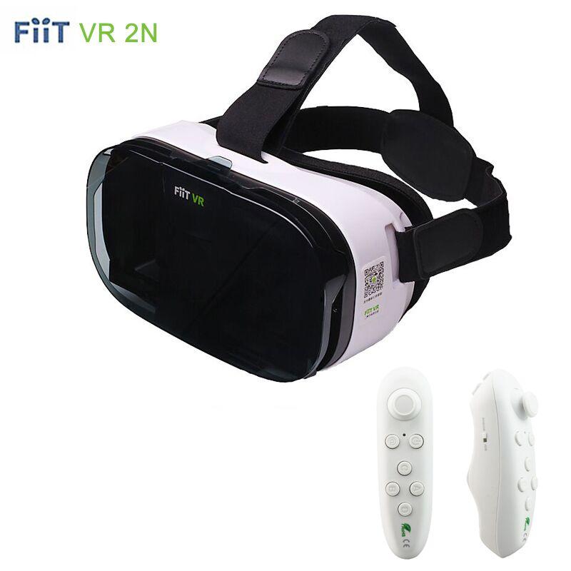 3D VR Fiit 2N Glasses Virtual Reality Google Cardboard Headset VR BOX Oculus Rift head mount For 4.0-6.5' Phone+Bluetooth Remote(China (Mainland))