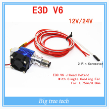 E3D V6 3D Printer long distance J-head&Single Cooling Fan for 1.75mm/3.0mm Bowden Filament Wade Extruder 0.3/0.4/0.5mm Nozzle(China (Mainland))
