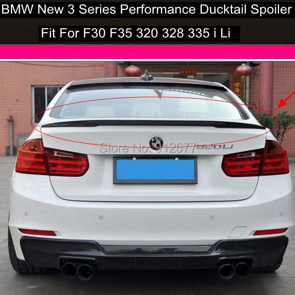 Carbon Fiber Spoiler For BMW F30 Sedan 3 Series 2012 2014