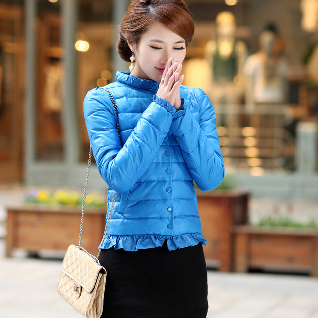 Free shipping 2013 winter new arrival women's fashionable casual design candy color short down coat outerwear 0221071330