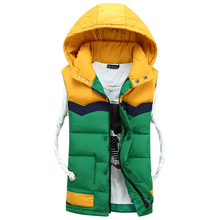 2015 New Man of the coming Winter fashionable casual Vest collars Hooded fur Vest Men 3 colors(China (Mainland))
