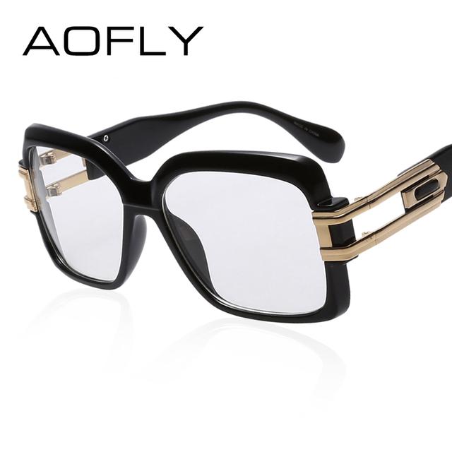 Square Designer Eyeglass Frames : AOFLY Eye glasses Women Square Frame Fashion Designer ...