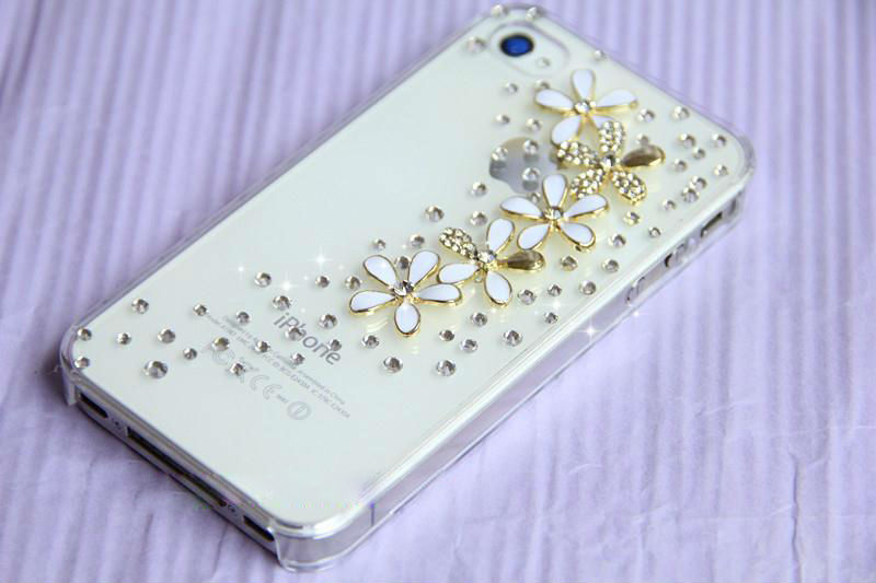 Luxury All over the sky star floret Bling Crystal Diamond flower Case Cover For iPhone 6 6 plus 5 5g 5s 5c 4 4g 4s 3g 3gs(China (Mainland))