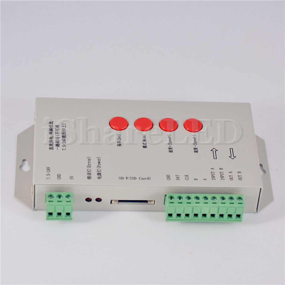 WS2812B WS2801 T-1000S SD Card LED Controller Pixel Led Control Pixel Controller(China (Mainland))