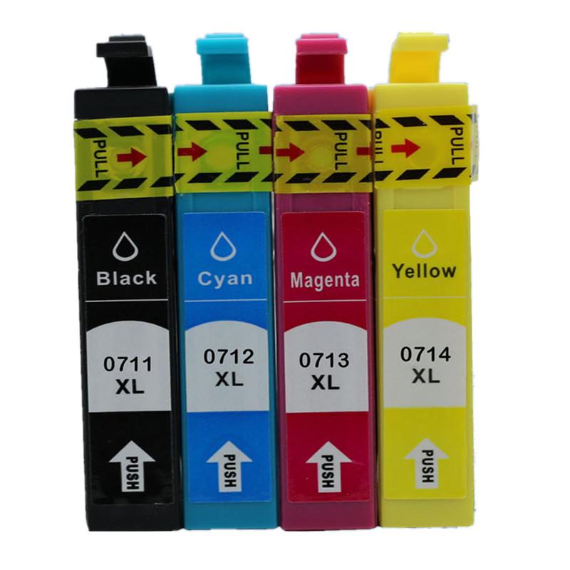 20 pcs T0711 - T0714 Ink cartridges for Epson stylus DX8400 DX8450 DX9400 DX9400F(China (Mainland))