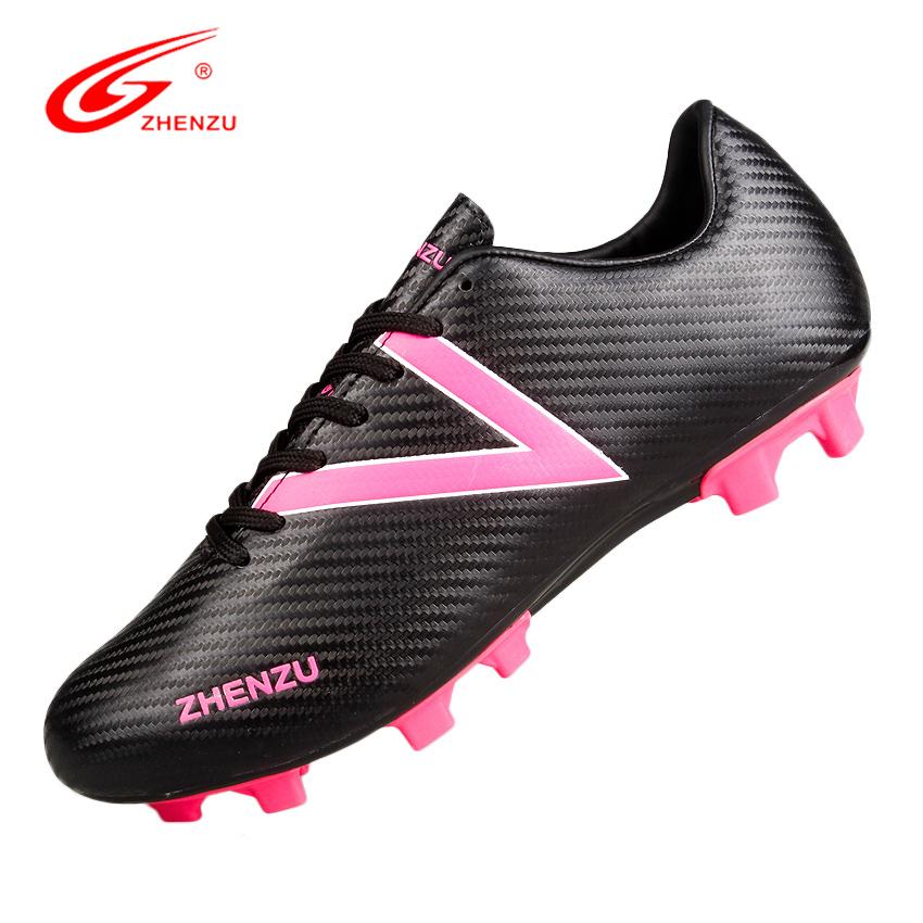 ZHENZU Man Women Firm Ground FG Soccer Boots Ultralight Training Shoes Professional Football Shoes Botas De Futbol , Size 39-44(China (Mainland))