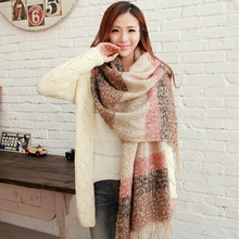 New 2015 Women Winter Mohair Scarf  Long Size Warm Fashion Scarves & Wraps For Lady Casual Patchwork Accessories()