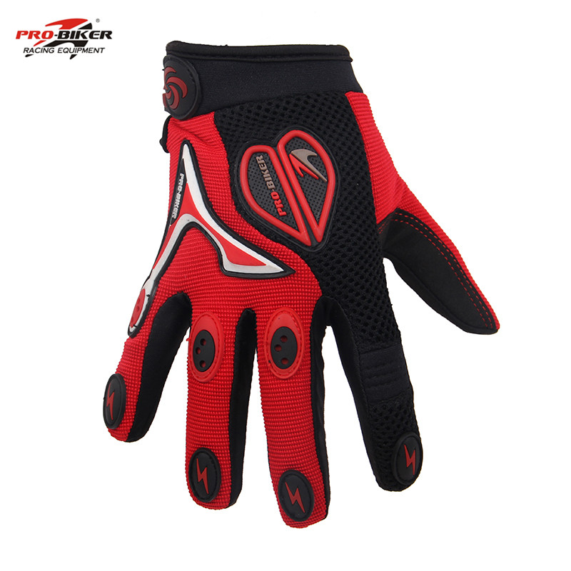 Hot PRO-BIKER Summer Motorcycle Motocross Bicycle Gloves Full Finger Gloves Racing Knight Drop Resistance Protective Accessories(China (Mainland))