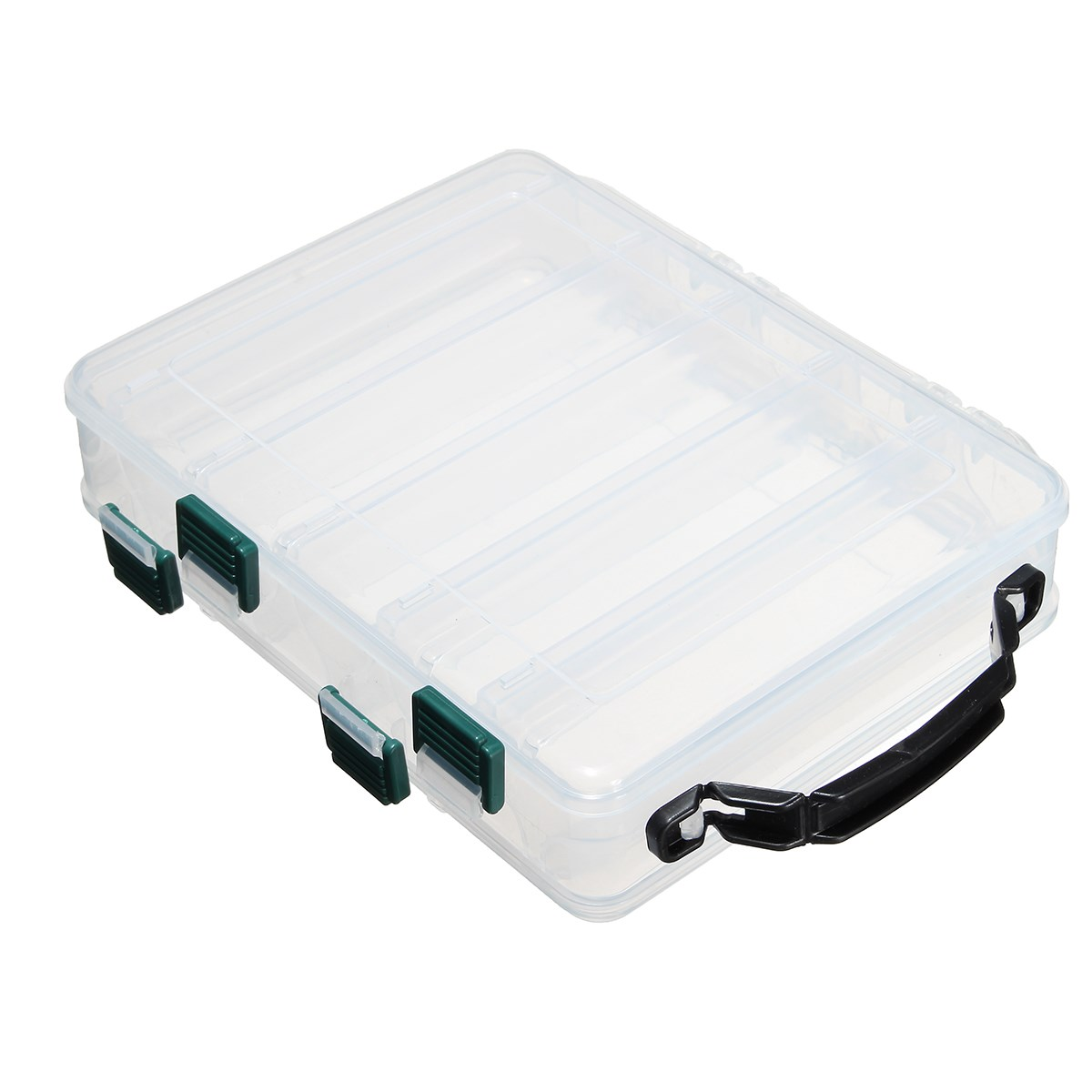 Fishing Accessories Double Sided Fishing Lure Bait Box Hooks Tackle Waterproof Storage Case Plastic Box Organizer Container(China (Mainland))
