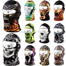 Brand 3D Cycling Bicycle Sports Outdoor Ski Snowboard Motorcycle Skull Cap Helmet Balaclava Headgear Hats Protect Full Face Mask(China (Mainland))
