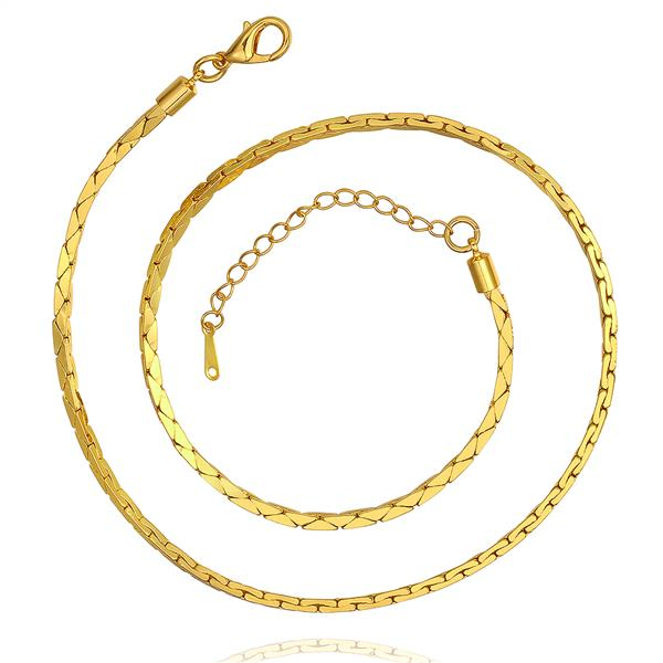 18k gold necklace solid gold necklace Jewelry necklaces real 18k gold plating for women(China (Mainland))