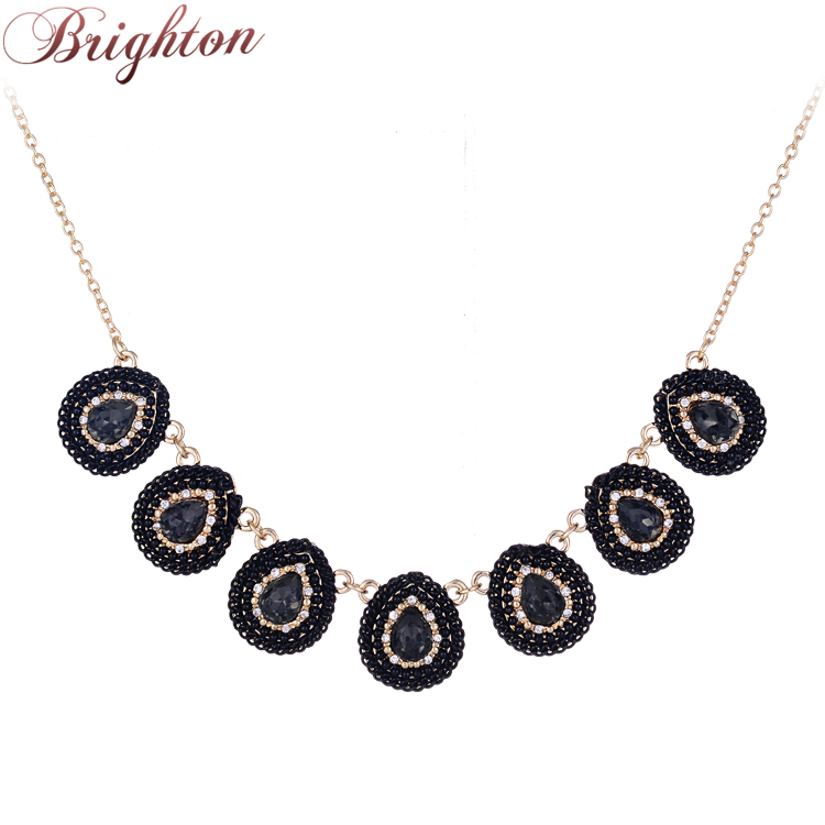 new fashion brand designer chunky bead necklace resin