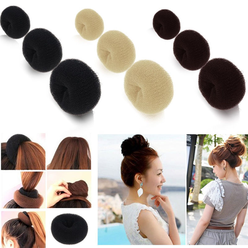 Hot Sale Ball Girls Headwear Disk Donuts Dish Hair Hairdressing Tools For Women Hair Accessories Free Shipping(China (Mainland))