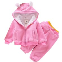 Buy Momscare Autumn Warm Thick Brushed Childrens Clothing Set Boys Girls Hoodies + Pants Sports Causal Kids Suits Child Baby Clothes for $12.74 in AliExpress store