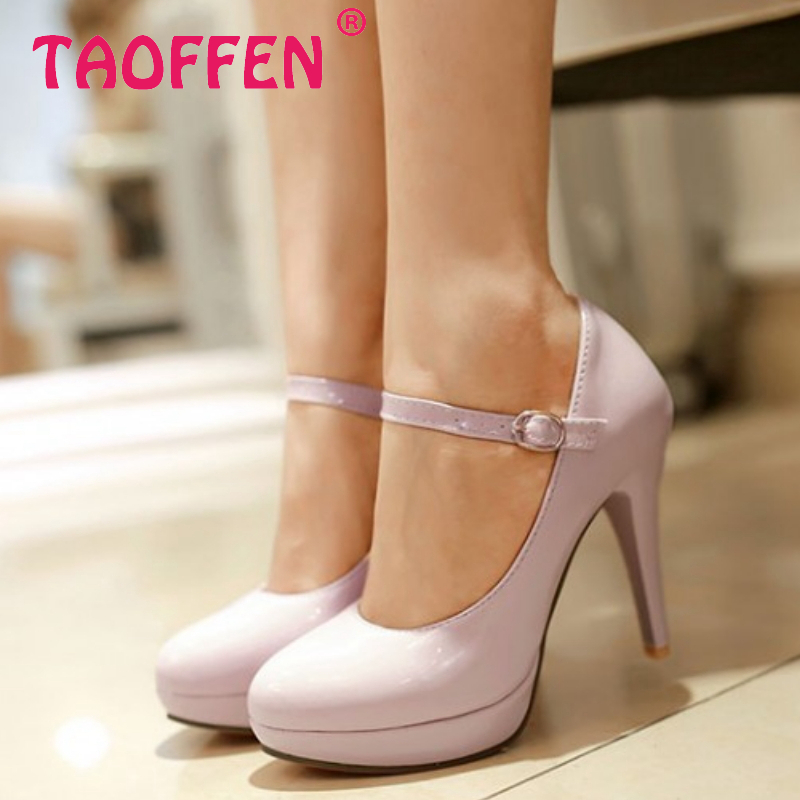 women stiletto high heel shoes patent leather sexy platform spring fashion heeled pumps heels shoes size 31-43 P16705