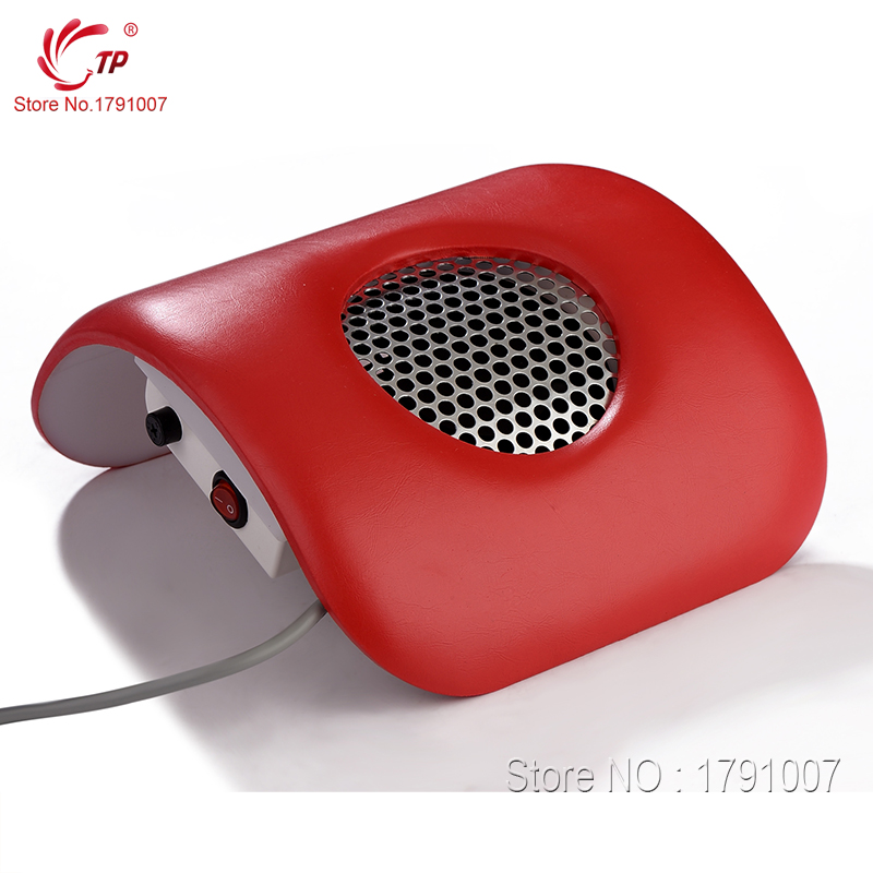 Red Color 110V/220V EU/US Plug Nail Art Manicure Beauty Salon Equipment Dust Suction Strong Fan Nail Tools Dust Collector(China (Mainland))