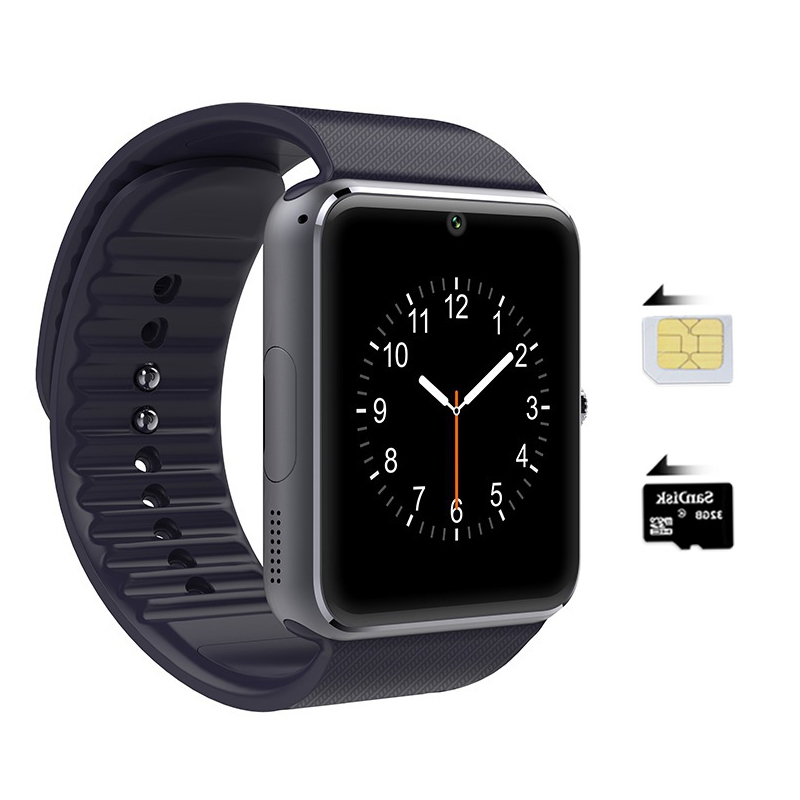 New style GT08 Bluetooth Smart watchwith camera SIM card ...