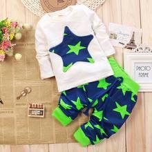 2015 new Autumn Baby boys girls Clothing Set Kids Cartoon Clothes Set  High Quality Cotton Long Sleeve+Pants Free Shipping(China (Mainland))