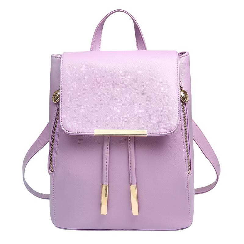 New 2016 Brand Womens Backpacks Fashion Classic Retro College Wind Woman Backpack Bag PU Leather School Backpack Girl(China (Mainland))