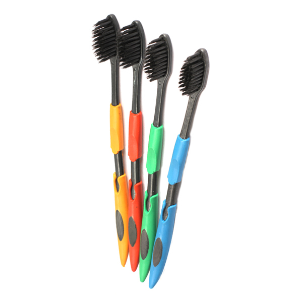 2015 Hot Sale Wholesale Cheap 4Pcs/Lot Double Ultra Soft Toothbrush Bamboo Charcoal Nano Brush Oral Care CLSK(China (Mainland))