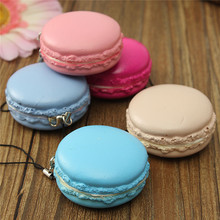 Hot New High Quality 1PC Kawaii Soft Dessert Squishy Cute Bread Cell Phone Key Straps Candy Colors Macarons Squishy Bread Straps(China (Mainland))