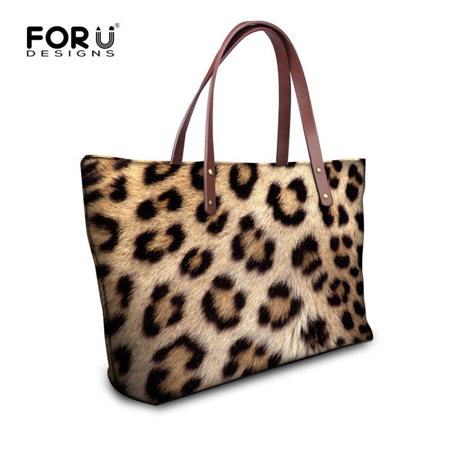 2016 new design popular women leopard messenger bag fashion women handbag snake skin bags bolsas animal printing tote bags girls(China (Mainland))