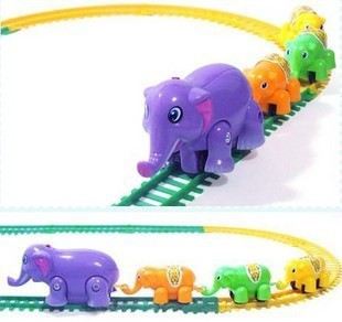 Free shipping Electrical elephants toys circle of rail car children track toys Children's day gift wholesale supported