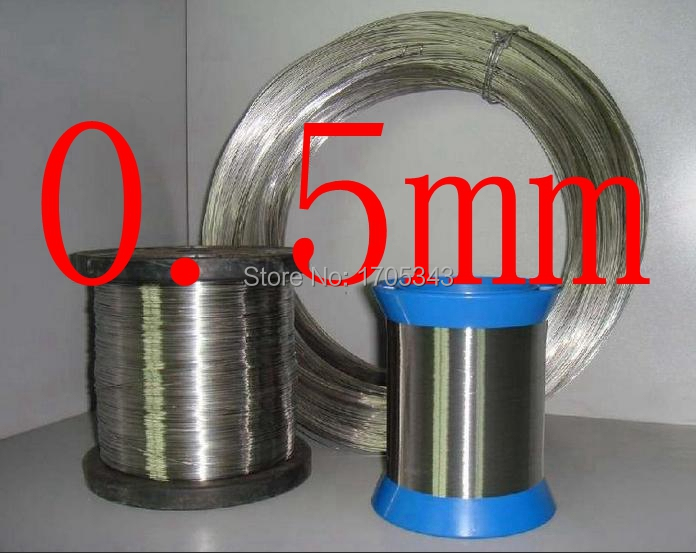 0.5mm,hard condition,0.5mm*100m authentic real bright 304 321 316,jewelry accessory beading DIY industry stainless steel wire(China (Mainland))
