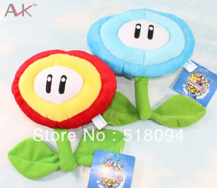 20pcs/lot Free Shipping Super Mario Bros Sunflower Plush Toy Soft Stuffed Dolls Kids Toys 2color 718CM SMPD162<br><br>Aliexpress