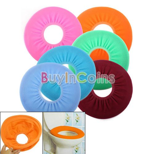Bathroom wc Warmer Washable Cloth Toilet Seat Cover Pads US AS #3391(China (Mainland))