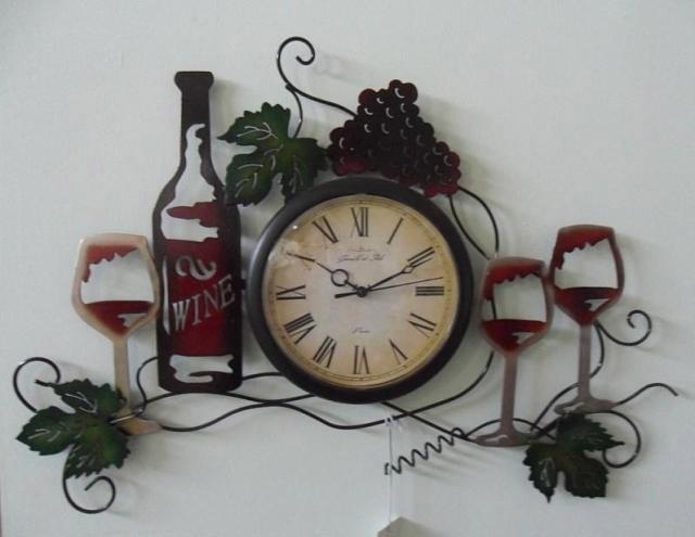 2015 new arrival iron art habitation decoration wine