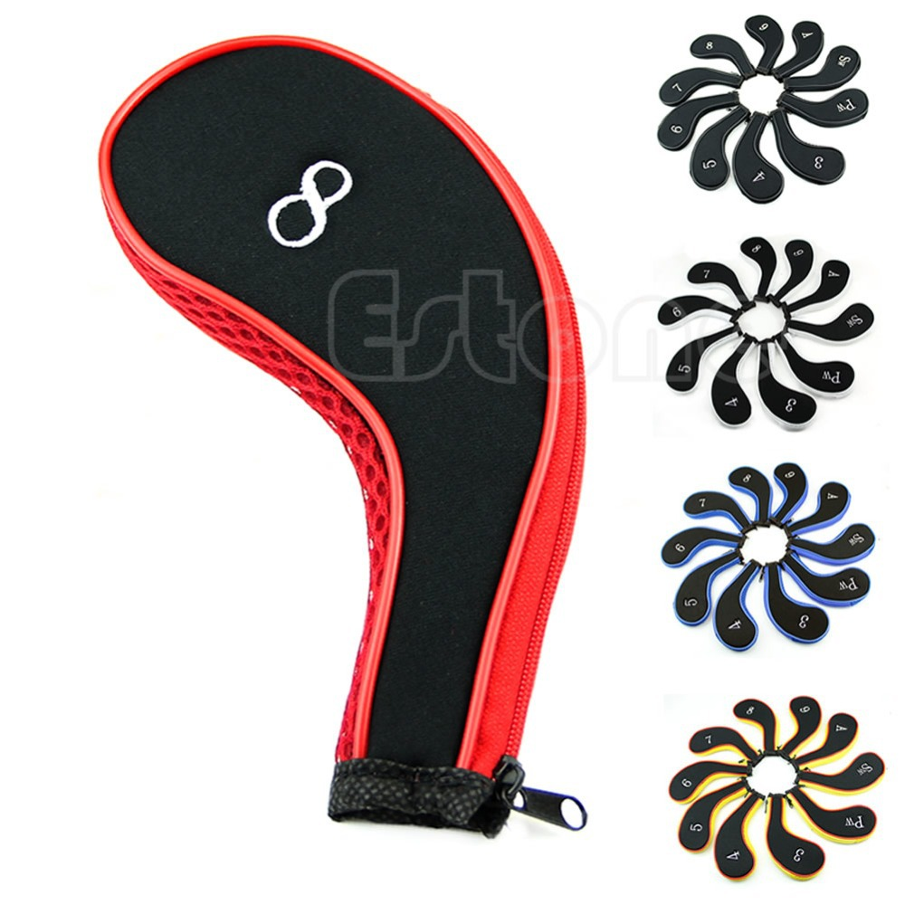 B39 10Pc Golf Club Iron Covers Headcovers Neoprene Protector For Golf Sport(China (Mainland))