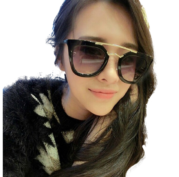 New 2016 Women Sunglasses Black Fashion Designer Glasses For Girls Accessories Drop Shopping(China (Mainland))