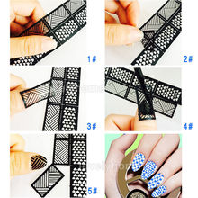 Easy Stamping Tool Nail Art Template Stickers Stamp Stencil Guide Reusable Tips