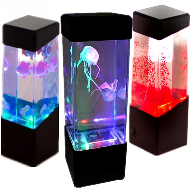 Jellyfish Lamp Aquarium LED Relaxing Desk Lamp Night Light