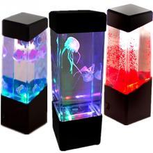Jellyfish Lamp Aquarium LED Relaxing Desk Lamp Night Light Bedside Table Motion(China (Mainland))