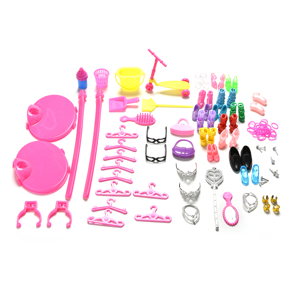 Dolls Hangers Bags Furniture Jewelry Shoes Kids for Barbies Accessories Set(China (Mainland))