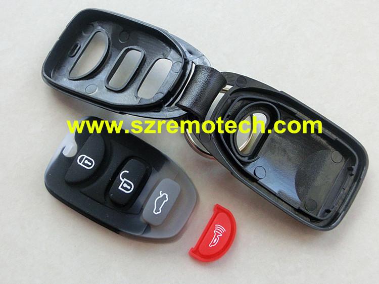 5pcs/lot Remote Key Case 3 Button Panic Keyless Entry Fob Fit For HYUNDAI Elantra Sonata Santa Fe(China (Mainland))
