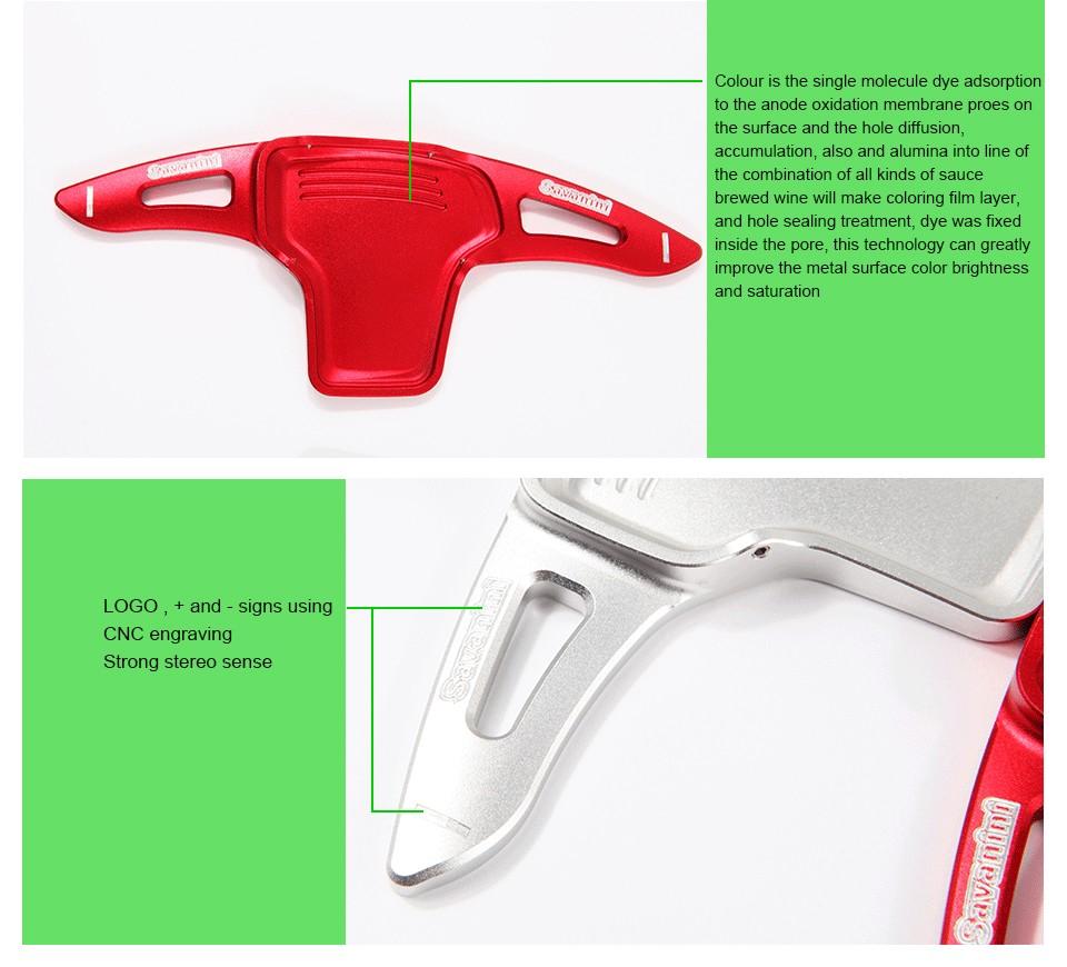Купить Savaini Новый 2 шт. Высокое Качество Алюминиевый Руль Сдвиг Paddle Shifter Расширенный тип Для новый Kia K5/Sorento 2016!