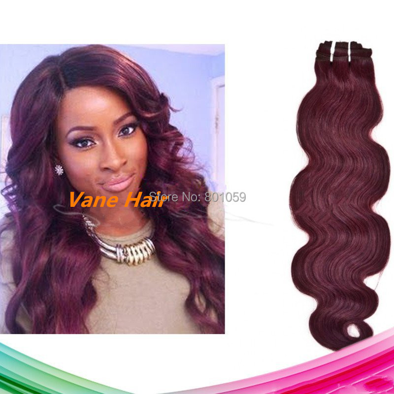 Body Wave 99J Vietnamese Hair Weave 100g 8-30Inch Remy Human Red Weaving Unprocessed Cheap - Vane Extensions-Factory Direct Supply store