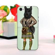 Scottie Dog Kilt scottish terrier Animal Amazing landscape hard pc Phone Case For iPhone 5 5S SE case